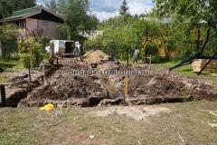 ленточный монолитный фундамент под деревянный дом