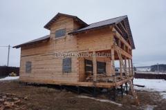 Строительство дома из обрезного бруса