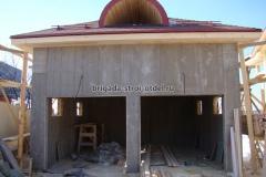 каркасный гараж обшивка стен ЦСП