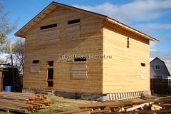 строительство крыши дома из бруса